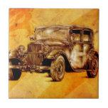 Fineart retro F052 del automóvil del vintage Azulejos