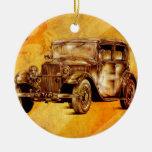 Fineart retro F052 del automóvil del vintage Ornamentos De Navidad