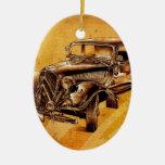 Fineart retro F053 del automóvil del vintage Ornamento Para Reyes Magos