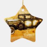 Fineart retro F055 del automóvil del vintage Ornamento De Navidad