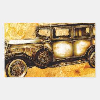 Fineart retro F055 del automóvil del vintage Rectangular Pegatina
