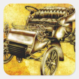 Fineart retro F056 del automóvil del vintage Pegatina Cuadrada