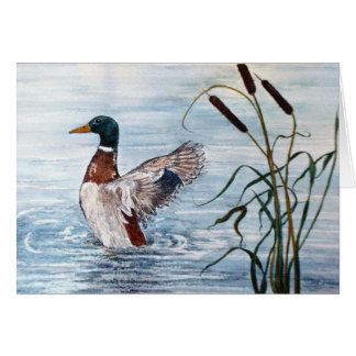 Fineart `Take Off Duck' Note Card