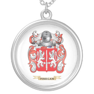 Finegan Coat of Arms Silver Plated Necklace
