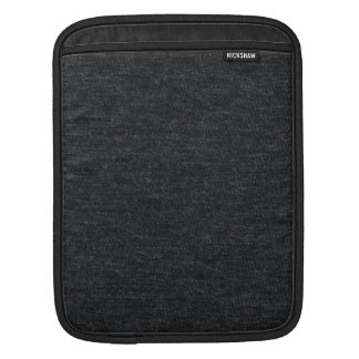 Finely Knit Charcoal Merino Wool Texture Sleeve For iPads