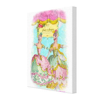 Finery and Frippery Little Marie s Dance Portrait Canvas Print