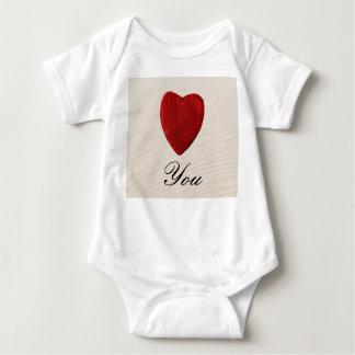 Finery background Love you Baby Bodysuit