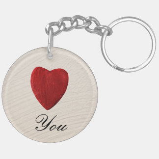 Finery background Love you Keychain