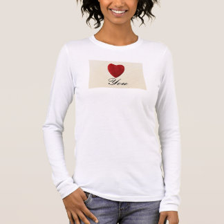 Finery background Love you Long Sleeve T-Shirt