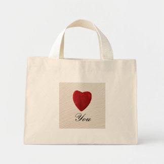 Finery background Love you Mini Tote Bag