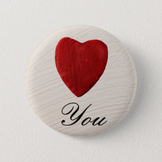 Finery background Love you Pinback Button
