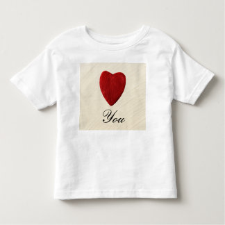 Finery background Love you Toddler T-shirt