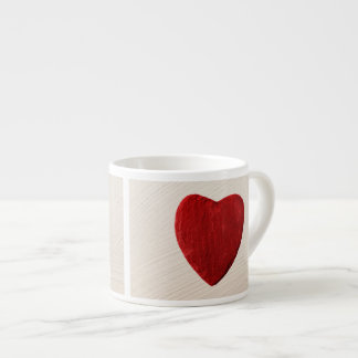 Finery background with heart espresso cup