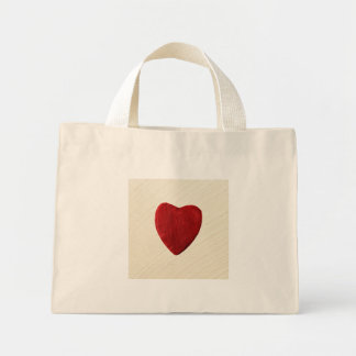 Finery background with heart mini tote bag