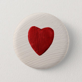 Finery background with heart pinback button