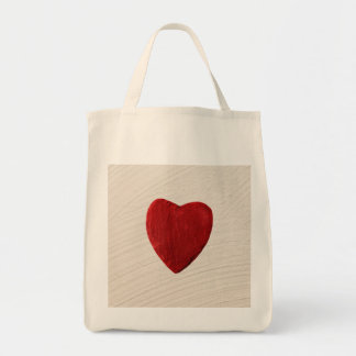 Finery background with heart tote bag