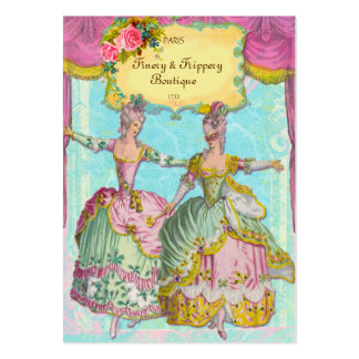 FINERY & FRIPPERY BOUTIQUE CHUBBY SIZE  BUSINESS LARGE BUSINESS CARDS (Pack OF 100)