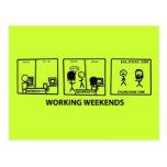 Fines de semana de trabajo postales