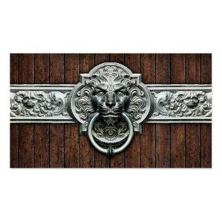 Fines generales adornados del doorknocker #1D del  Tarjetas De Visita