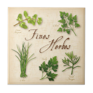 Fines Herbes, Parsley, Chives, Tarragon, Chervil, Tile