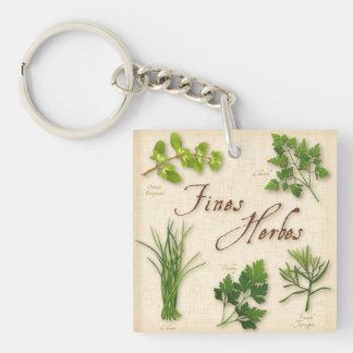 Fines Herbs Recipe, Parsley, Chives, Tarragon, Keychain