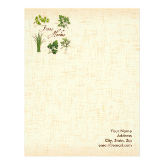 Fines Herbs, Recipe, Parsley, Chives, Tarragon, Letterhead