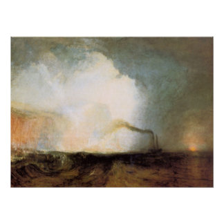 Fingal's cave by Joseph Mallord Turner Poster