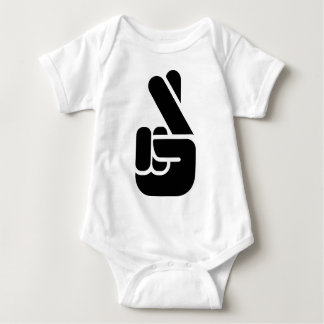 Finger Crossed Baby Bodysuit