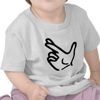 finger crossed icon tee shirts