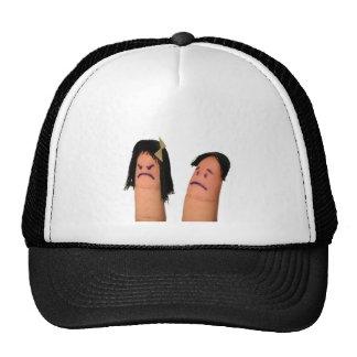 Finger-Faces1.jpg Trucker Hat