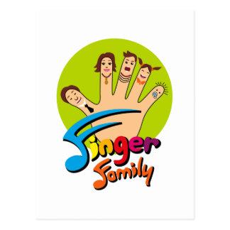 Finger Family Postcard