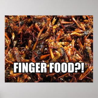FINGER FOOD?! MEME POSTER
