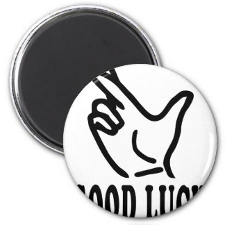 finger good luck icon 2 inch round magnet