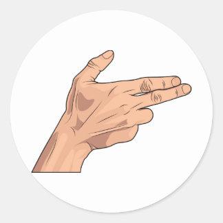 Finger Gun Pistol Shooting Hand Sign Gesture Sticker