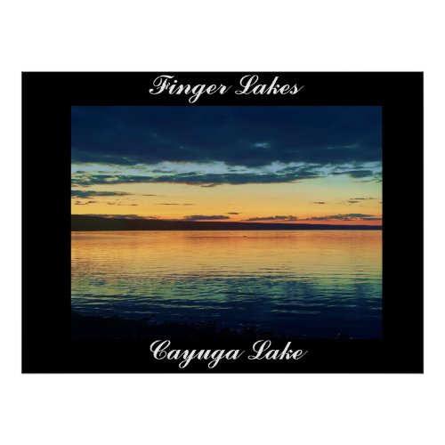 FINGER LAKES CAYUGA LAKE poster