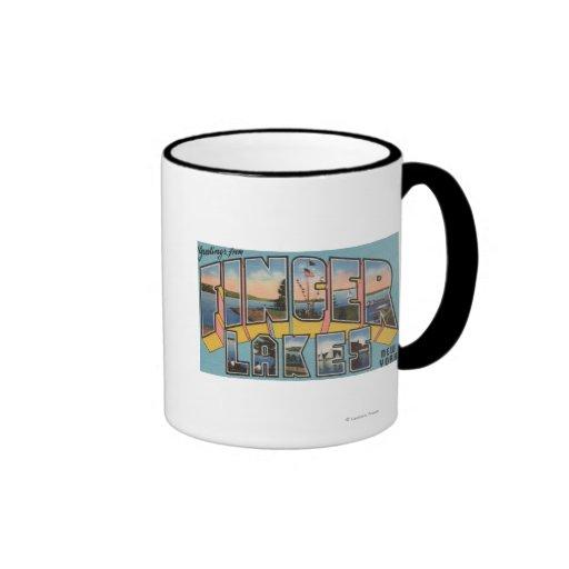 Finger Lakes, New York - Large Letter Scenes Mug