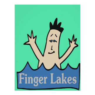 Finger Lakes, New York State, wine, water, fish, Poster