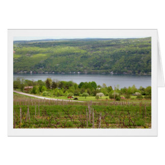 Finger Lakes Vinyard (Blank) Stationery Note Card