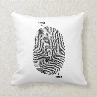 Finger Maze Throw Pillows