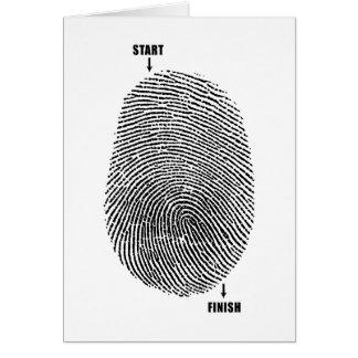 Finger Maze Stationery Note Card