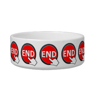 Finger on the Button Cat Food Bowl
