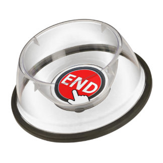 Finger on the Button Pet Bowl