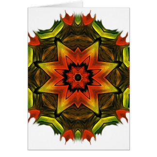 Finger Paint Snowflake. Greeting Card