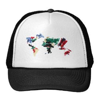 Finger Paint World Map Trucker Hat