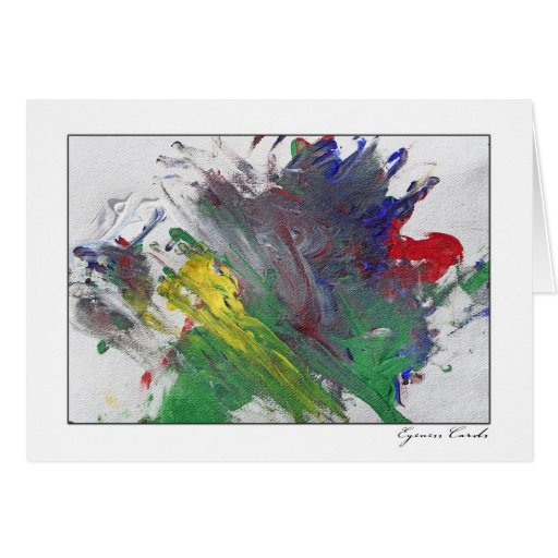 Finger Painting Two Greeting Card