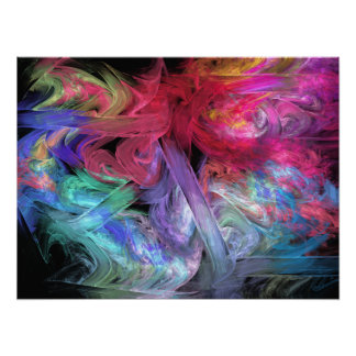 Finger Paints Abstract Fractal Art Print