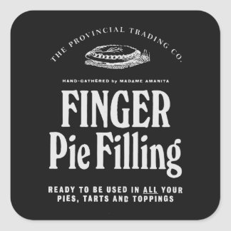 Finger Pie Filling - apothecary label Stickers