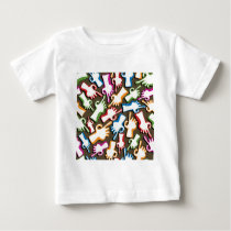 Finger pointing hands seamless pattern. baby T-Shirt