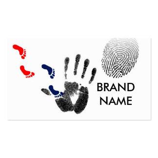 Finger prints business cards