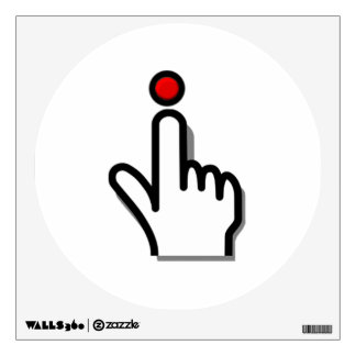 Finger Pushing Button Wall Decal